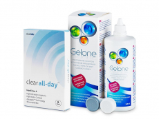 Clear All-Day (6 lenzen) + Gelone Solution 360 ml
