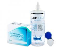 PureVision 2 (6lenzen) +Laim-Care400 ml