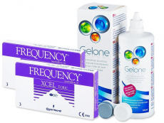 FREQUENCY XCEL TORIC (2x3 lenzen) + Gelone 360 ml