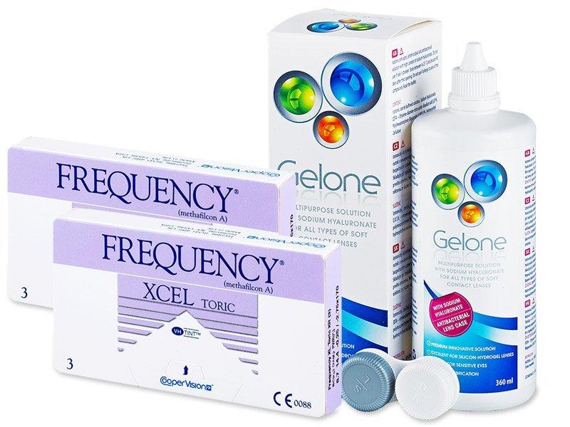 FREQUENCY XCEL TORIC XR (2x3 lenzen) + Gelone 360 ml