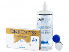 Frequency 55 Aspheric (6lenzen) +Laim-Care400 ml