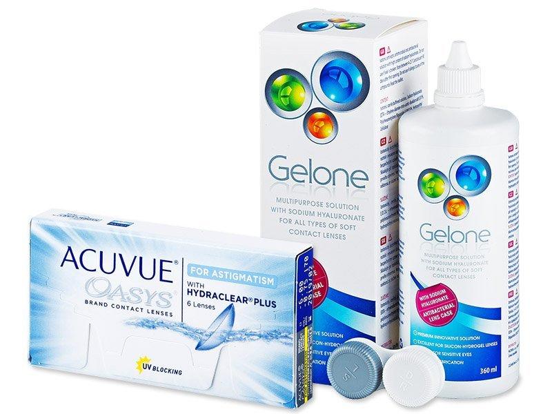 Acuvue Oasys for Astigmatism (6lenzen) + Gelone 360 ml
