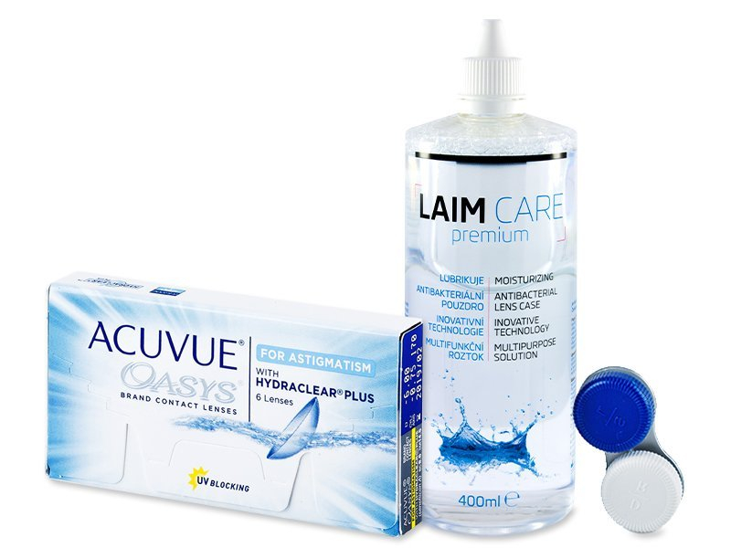 Acuvue Oasys for Astigmatism (6 lenzen) + Laim-Care 400 ml