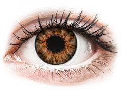 Bruine Honey contactlenzen - met sterkte - Air Optix Colors (2kleurlenzen)