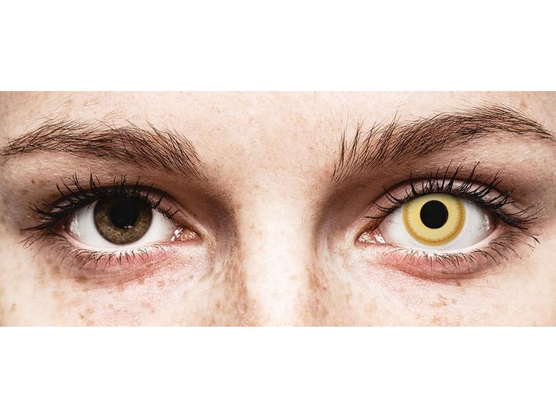 Gele Avatar contactlenzen - ColourVue Crazy (2 kleurlenzen)