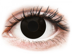 Zwarte BlackOut contactlenzen - ColourVue Crazy (2 kleurlenzen)