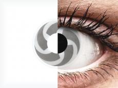 Wit en Grijze Blade contactlenzen - ColourVue Crazy (2 kleurlenzen)