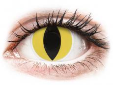 Gele Cat Eye contactlenzen - ColourVue Crazy (2 kleurlenzen)