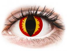 Rood en Gele Dragon Eyes contactlenzen - ColourVue Crazy (2 kleurlenzen)