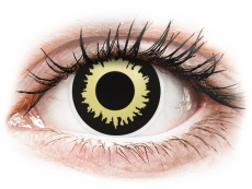 Zwart en Gele Eclipse contactlenzen - ColourVue Crazy (2 kleurlenzen)