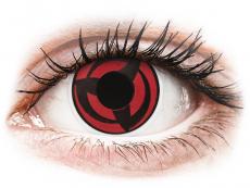 Rood en Zwarte Kakashi contactlenzen - ColourVue Crazy (2 kleurlenzen)