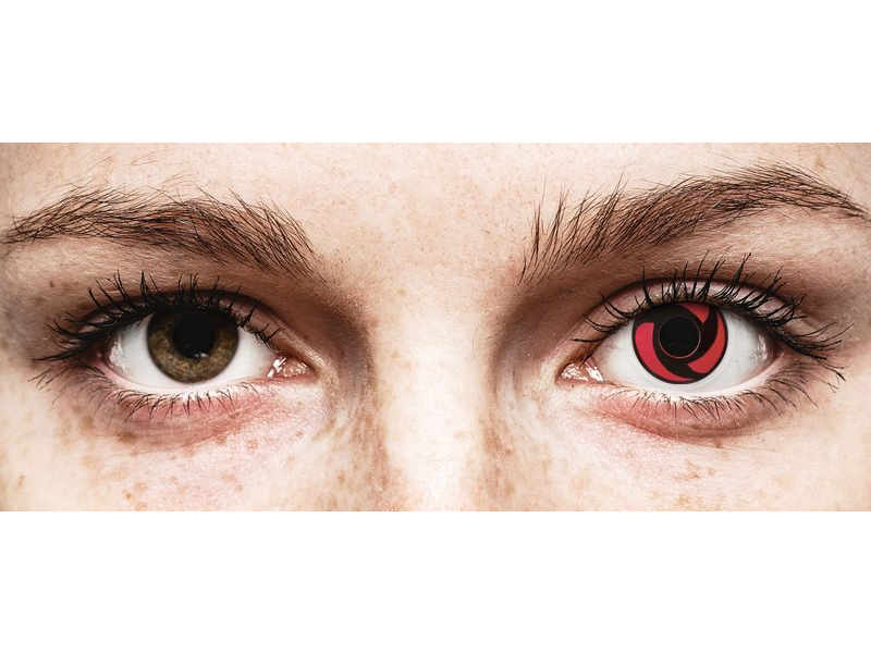 Rood en Zwarte Mangekyu contactlenzen - ColourVue Crazy (2 kleurlenzen)