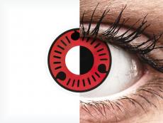 Rood en Zwarte Sasuke contactlenzen - ColourVue Crazy (2 kleurlenzen)
