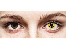 Gele Smiley contactlenzen - ColourVue Crazy (2 kleurlenzen)
