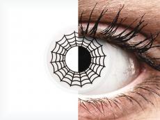 Zwart en Witte Spider contactlenzen - ColourVue Crazy (2 kleurlenzen)