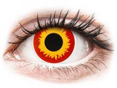 Rood en Gele Wildfire contactlenzen - ColourVue Crazy (2 kleurlenzen)