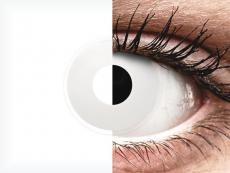 Witte WhiteOut contactlenzen - ColourVue Crazy (2kleurlenzen)