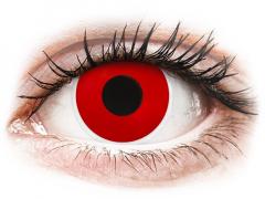 Rode Red Devil contactenzen - met sterkte - ColourVue Crazy (2 kleurlenzen)
