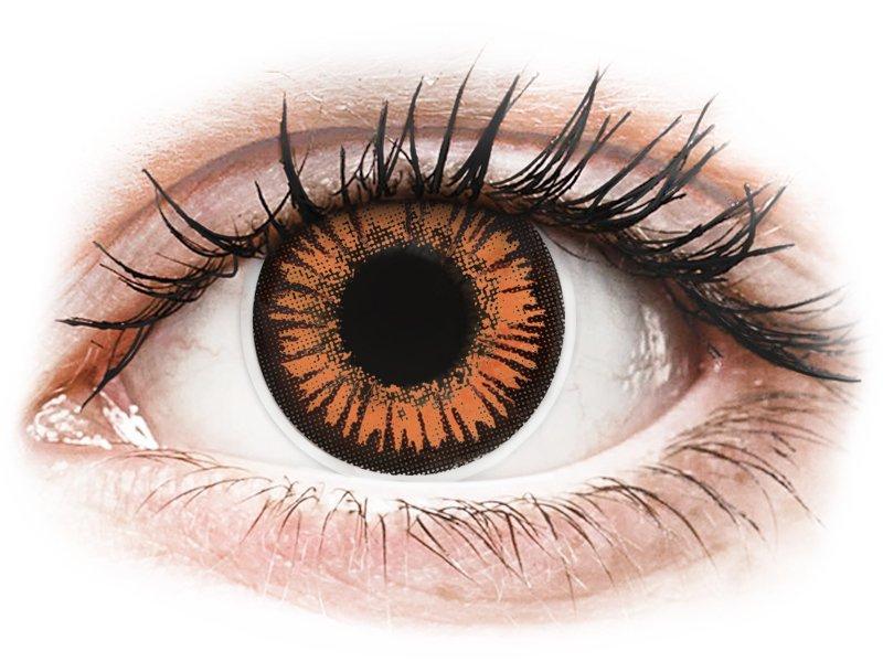 Oranje Twilight contactlenzen - met sterkte - ColourVue Crazy (2 kleurlenzen)