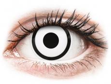 Witte White Zombie contactlenzen - met sterkte - ColourVue Crazy (2 kleurlenzen)