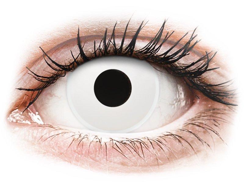 Witte WhiteOut contactlenzen - met sterkte - ColourVue Crazy (2 kleurlenzen)