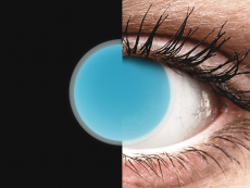 Blauwe Crazy Glow Electric Blue contactlenzen - ColourVUE (2kleurlenzen)