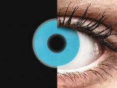 Blauwe Crazy Glow contactlenzen - ColourVUE (2kleurlenzen)