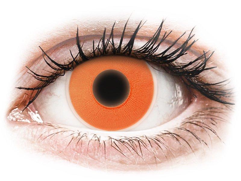Oranje Crazy Glow contactlenzen - ColourVUE (2kleurlenzen)