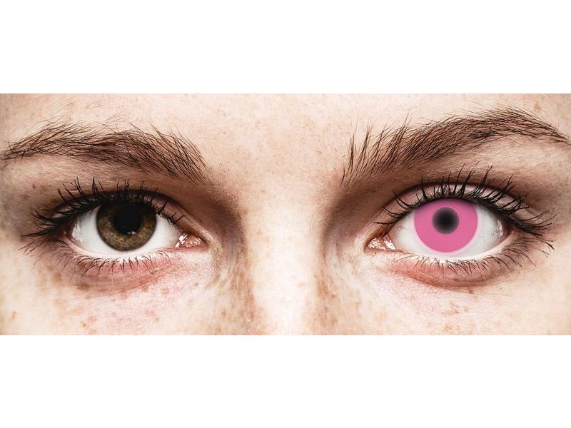 Roze Crazy Glow contactlenzen - ColourVUE (2kleurlenzen)