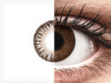 Bruine contactlenzen - met sterkte - TopVue Color (2kleurlenzen)