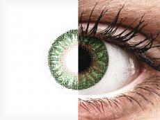 Groene contactlenzen - met sterkte - TopVue Color (2kleurlenzen)