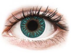 Turquoise contactlenzen - met sterkte - TopVue Color (2 kleurlenzen)