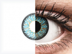 Blauwe Aqua contactlenzen - met sterkte - ColourVUE Glamour (2kleurlenzen)