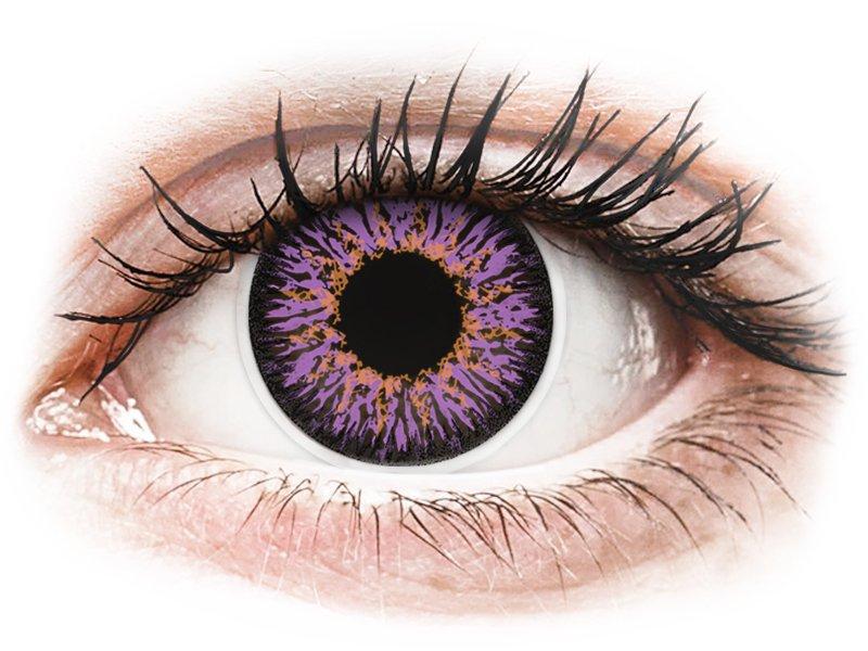 Violet Paarse contactlenzen - ColourVUE Glamour (2kleurlenzen)