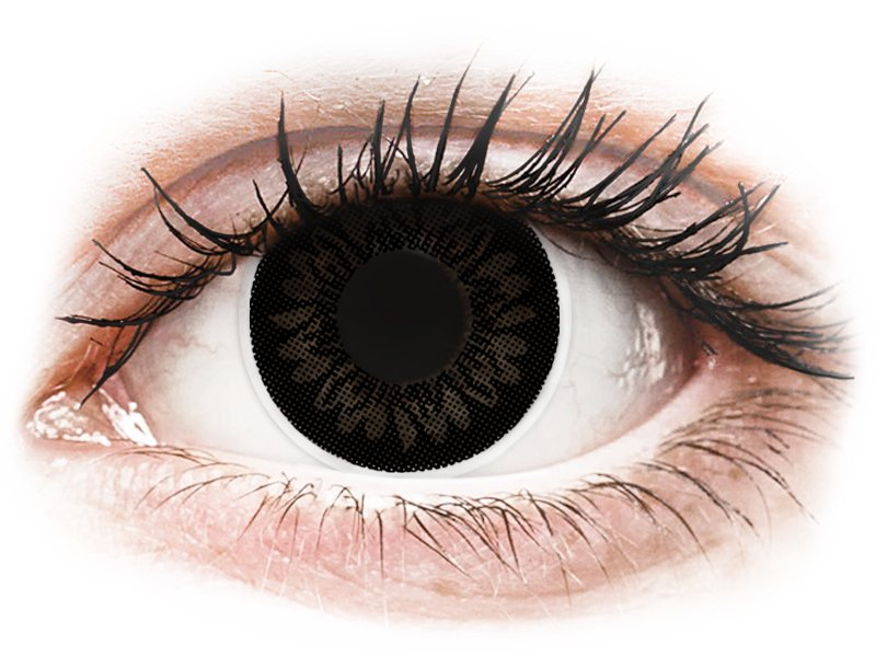 Zwarte Dolly Black contactlenzen - ColourVUE BigEyes (2kleurlenzen)