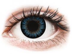 Blauwe Cool Blue contactlenzen - met sterkte - ColourVUE BigEyes (2kleurlenzen)