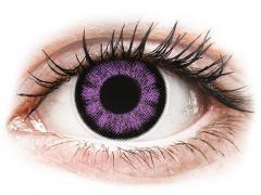 Paarse Ultra Violet contactlenzen - ColourVUE BigEyes (2kleurlenzen)