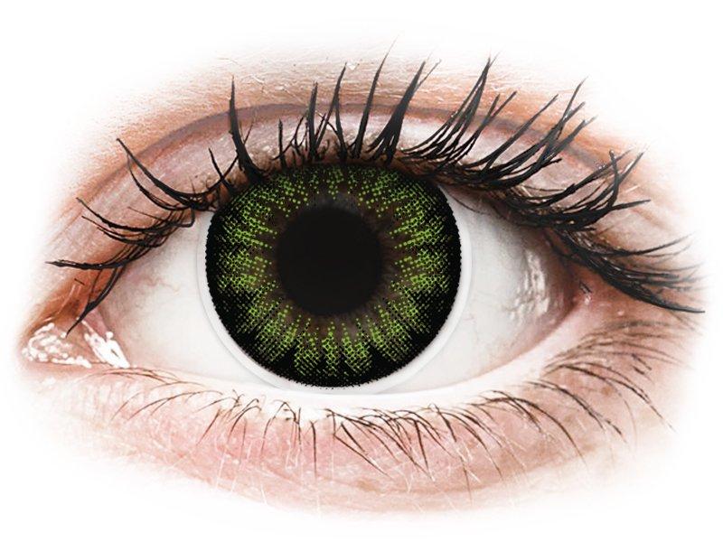 Groene Party Green contactlenzen - ColourVUE BigEyes (2kleurlenzen)