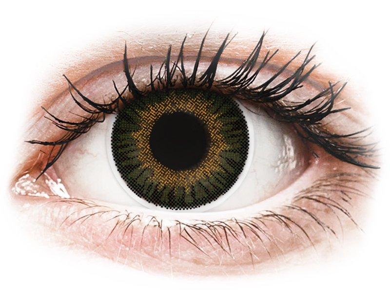 Groene contactlenzen - met sterkte - ColourVUE 3 Tones (2kleurlenzen)