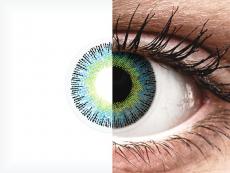 Geel en Blauwe contactlenzen - met sterkte - ColourVUE Fusion (2kleurlenzen)