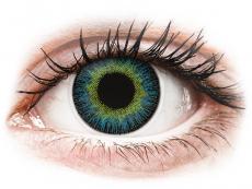 Geel en Blauwe contactlenzen - ColourVUE Fusion (2kleurlenzen)