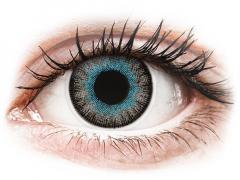 Blauw en Grijze contactlenzen - met sterkte - ColourVUE Fusion (2kleurlenzen)