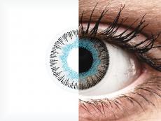 Blauw en Grijze contactlenzen - ColourVUE Fusion (2kleurlenzen)