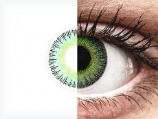 Groen en Gele contactlenzen - met sterkte - ColourVUE Fusion (2kleurlenzen)