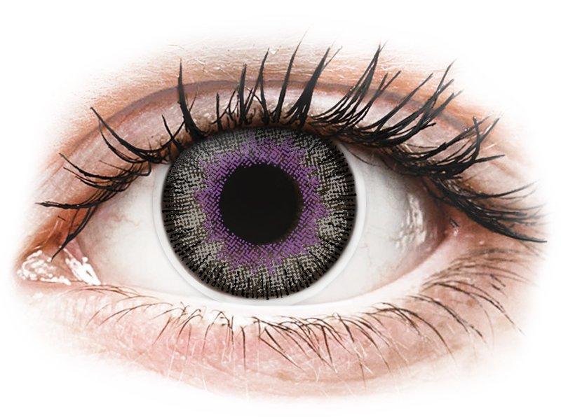 Paars Violet en Grijze contactlenzen - ColourVUE Fusion (2kleurlenzen)