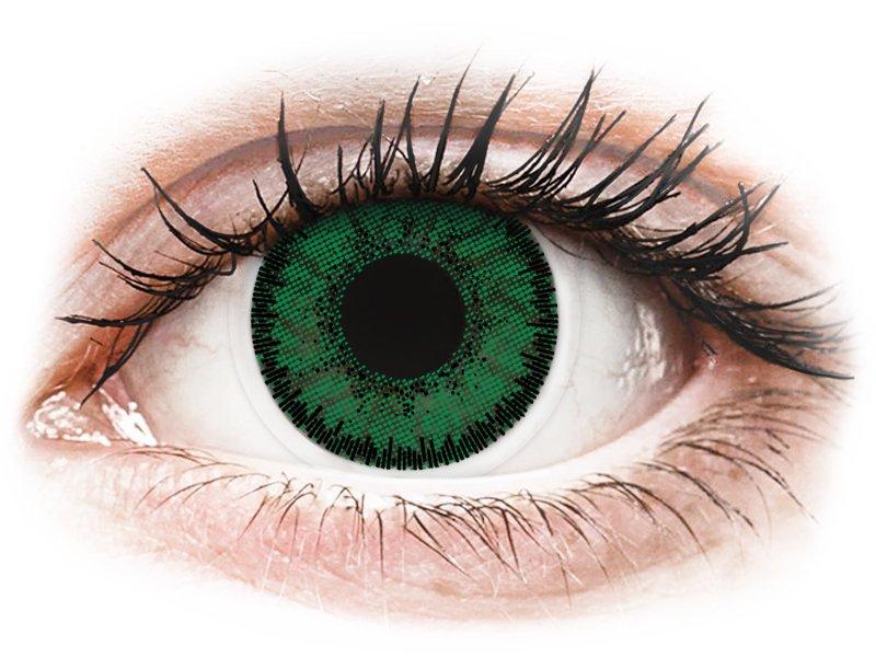 Groene Emerald lenzen - SofLens Natural Colors - met sterkte (2 kleurlenzen)