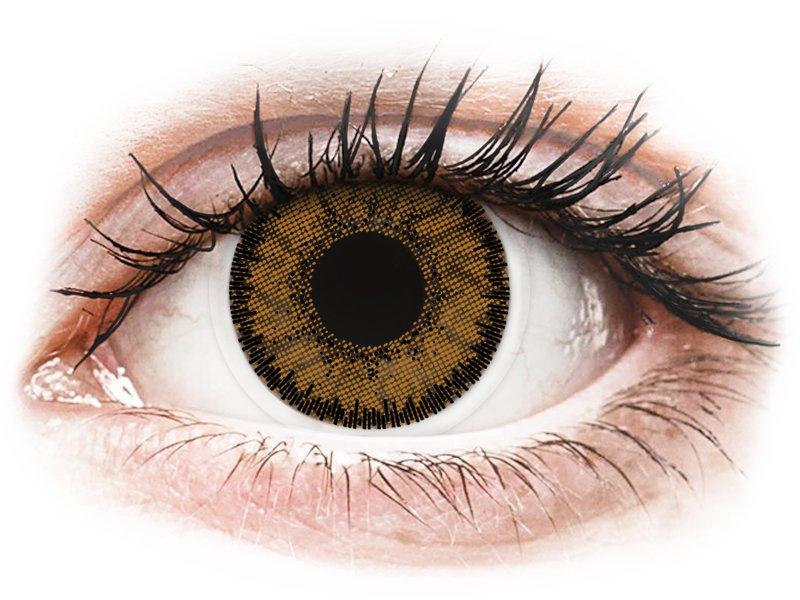 Bruine India lenzen - SofLens Natural Colors - met sterkte (2 kleurlenzen)