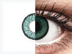 Groene Jade lenzen - SofLens Natural Colors - met sterkte (2 kleurlenzen)