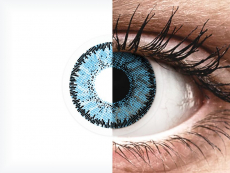 Blauwe Pacific lenzen - SofLens Natural Colors - met sterkte (2 kleurlenzen)