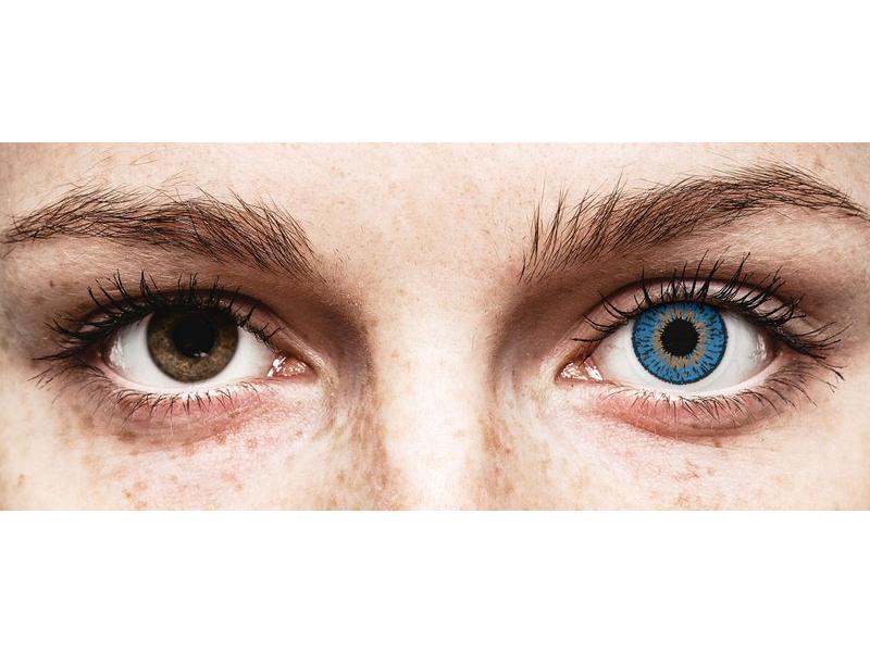 Blauwe Dark Blue Expressions Colors - met sterkte (1 kleurlens)